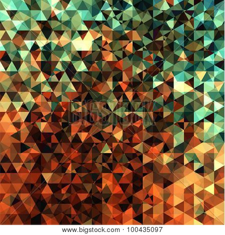 Abstract vibrant mosaic background - eps10
