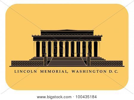 An illustration of Lincoln Memorial in Washington DC
