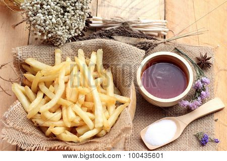 French Fries With Ketchup Of Delicious