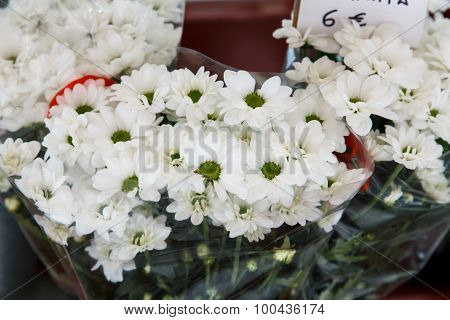 White Flowers From The Florist's Shop