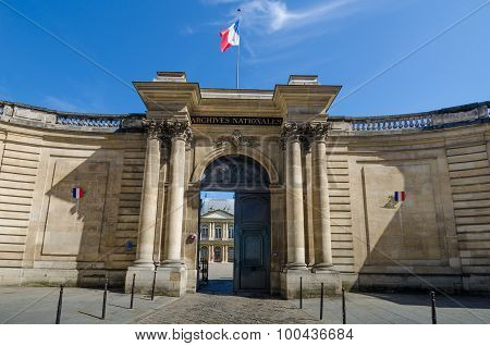 National Archives in Paris, France