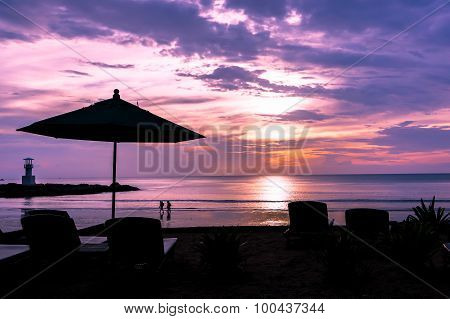 Twilight Sunset Beach