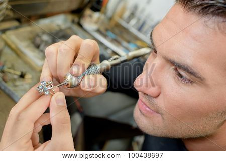 Jeweller hard at work