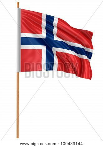 3D Norwegian flag (clipping path included)
