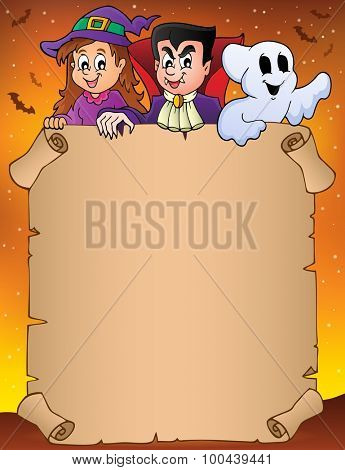 Parchment with Halloween topic 9 - eps10 vector illustration.