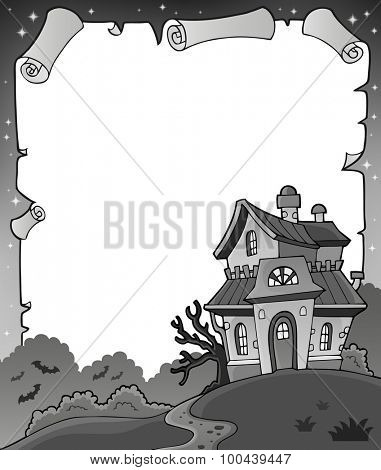 Black and white Halloween parchment 1 - eps10 vector illustration.