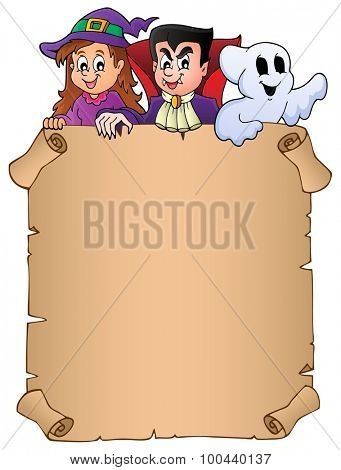 Parchment with Halloween topic 8 - eps10 vector illustration.