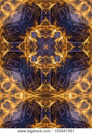 kaleidoscope cross: campfire flames