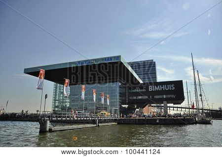 The Music Hall (muziekgebouw) In The Center Of Amsterdam