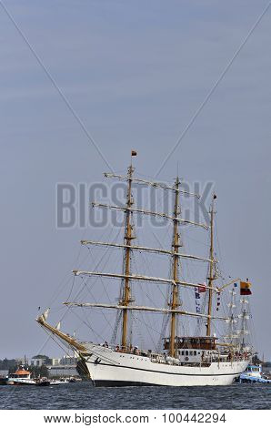 The Guayas Leaving Amsterdam