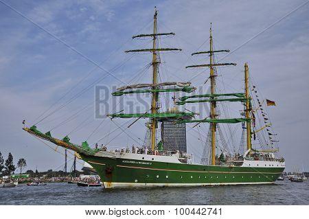The Alexander Von Humboldt En Route From Amsterdam