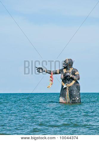 Sculptures in sea