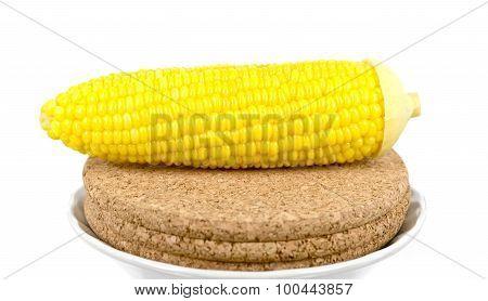 corn on sawdust board