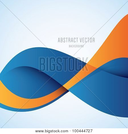 Vector abstract blue and orange modern background