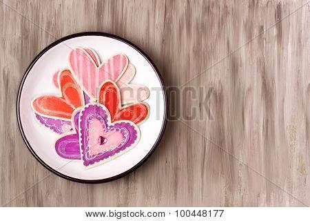 wooden heart objects