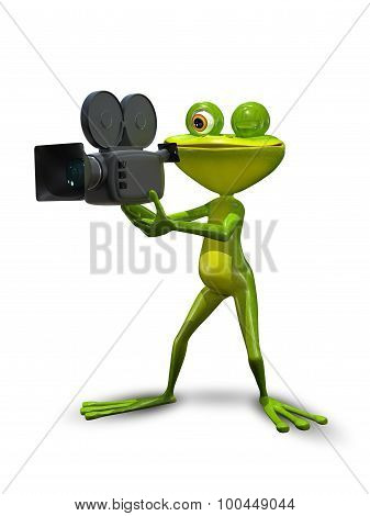 Frog With Camcorder