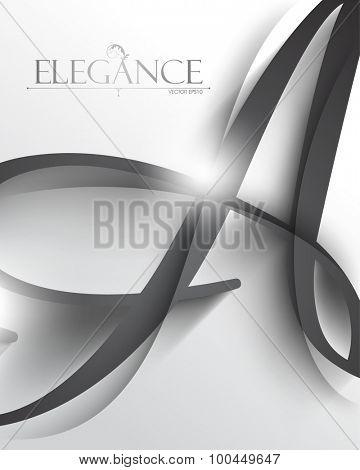 vector alphabet letter A elegant advertisement cover leaflet design eps10