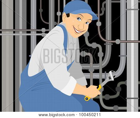 Plumber With A Gas Key