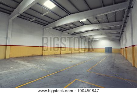 Empty industrial warehouse