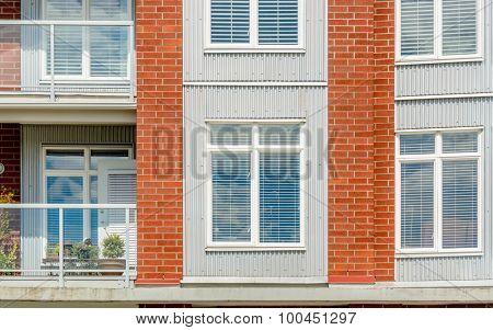 Window on the brick wall.