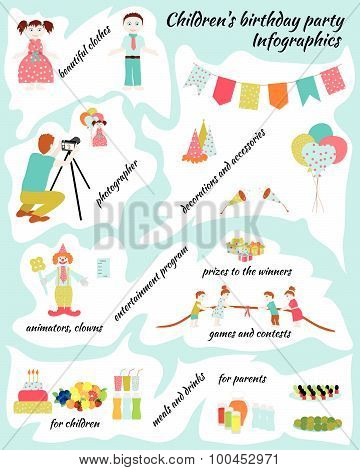 Childrens Birthday. Infografics