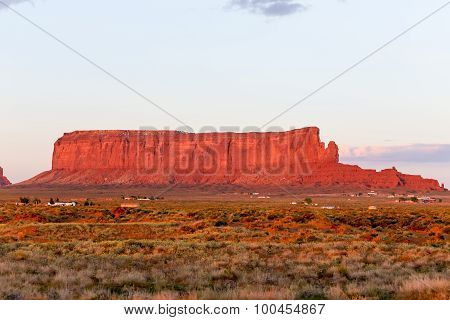Sentinel Mesa in Monument Valley