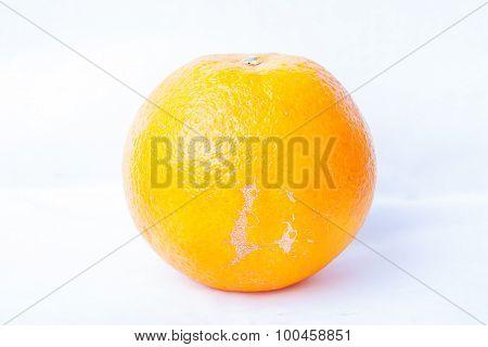 Ripe Fresh Orange On A White Background