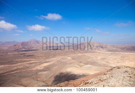 Fuerteventura, View West From Montana Roja