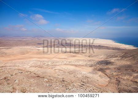 Fuerteventura, View North From Montana Roja