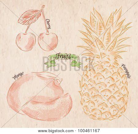 Fruit Cherry, Mango, Pineapple Country