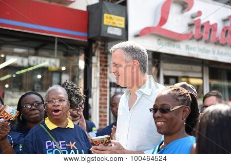 Mayor de Blasio with Chirlane McCray