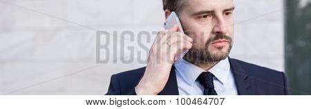 Businessperson Being On The Phone