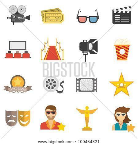 Movie Icons Flat