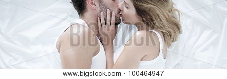 Passionate Couple Kiss
