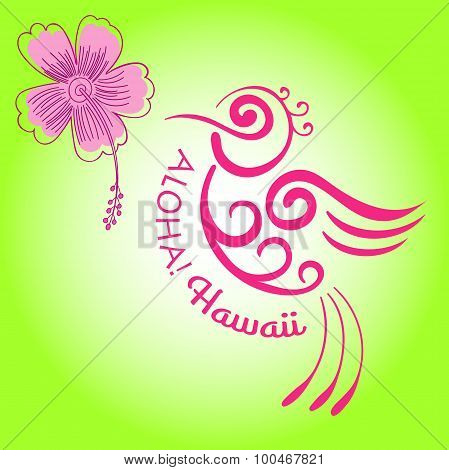 Hummingbird flower vector Hibiscus flower Hibiscus Hawaii Enjoy The Little Things