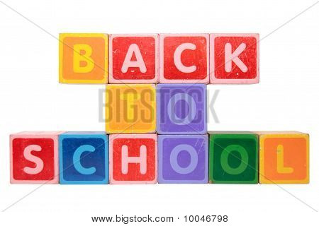 Back To School In Toy Block Letters