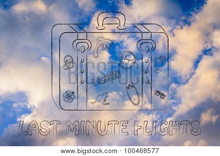 Last Minute Flights, Baggage Illustration