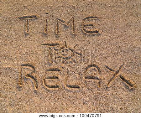 Time To Relax Sign