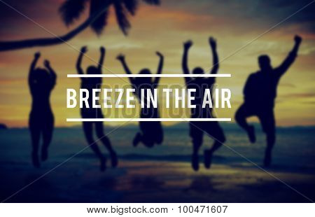 Breeze Relaxation Refreshing Beach Vacation Concept