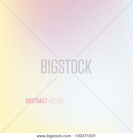 Halftone background. Light yellow blue pink white color