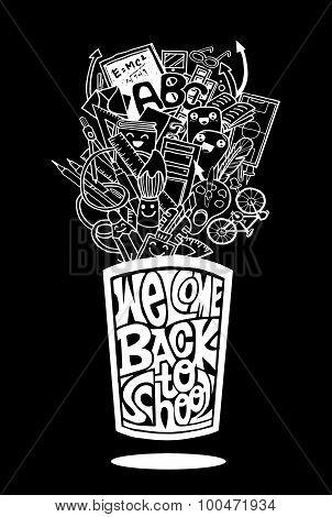 Back To School Design. Vector Illustration.