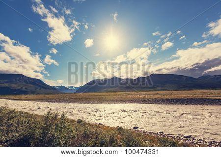 Alaska landscapes..Instagram filter.