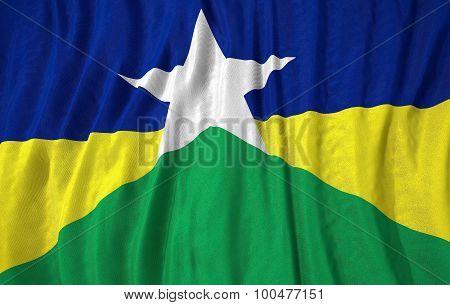 Corrugated Brazilian State Rondonia Flag