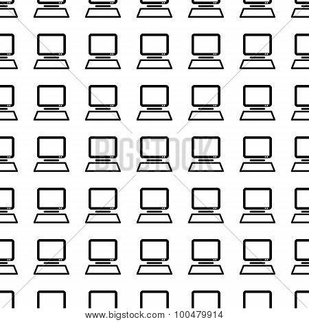 Computer Seamless Pattern. Vector