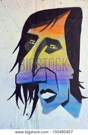 Street art weird man
