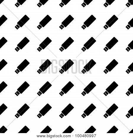 Usb Seamless Pattern. Vector