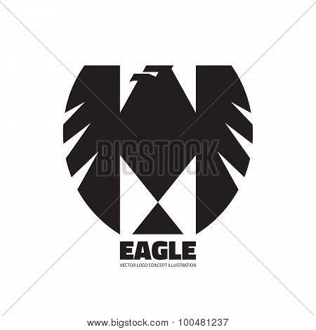 Eagle - vector logo concept illustration. Bird eagle sign graphic illustration. Eagle silhouette.