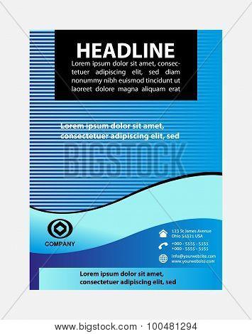Flyer, leaflet, booklet layout. Editable design template