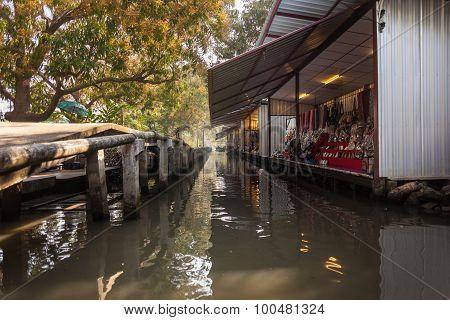 Thai Floating Market Stalls