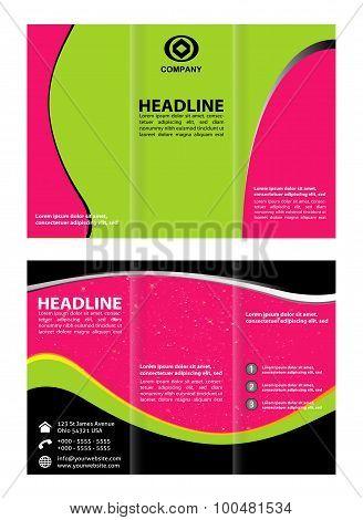 Tri-Fold Corporate Business Store Mock up & Brochure Design